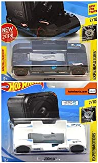 Hot Wheels Zoom in Black 242/365 and Zoom in White Short Card Works with GoPro