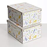 SET DE DOS Cajas de almacenamiento en cartón, tamaño grande, 2 unidades, modelo GATITOS