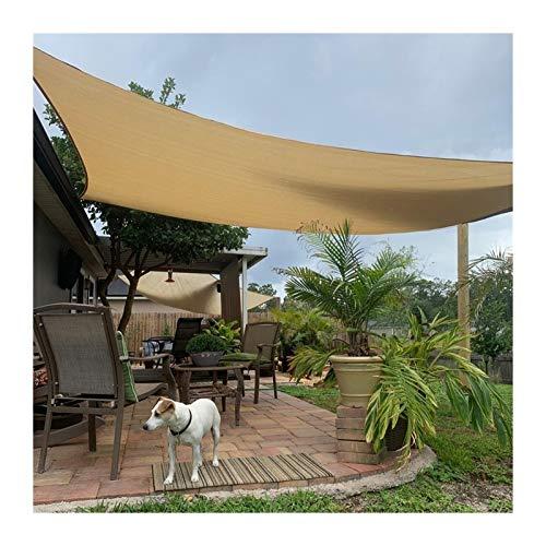 MAHFEI Rectángulo De Velas De Parasol, 95% De Bloqueo UV Malla Sombra De Red Paño De Protección Solar Impermeable Anillo De Metal En Forma De D para Patio Césped del Patio Trasero