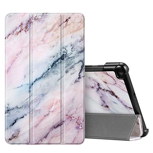 Fintie SlimShell Case for Samsung Galaxy Tab A 8.0 2019 Without S Pen Model (SM-T290 Wi-Fi, SM-T295 LTE), Ultra Thin Lightweight Tri-Fold Stand Cover, Marble Pink