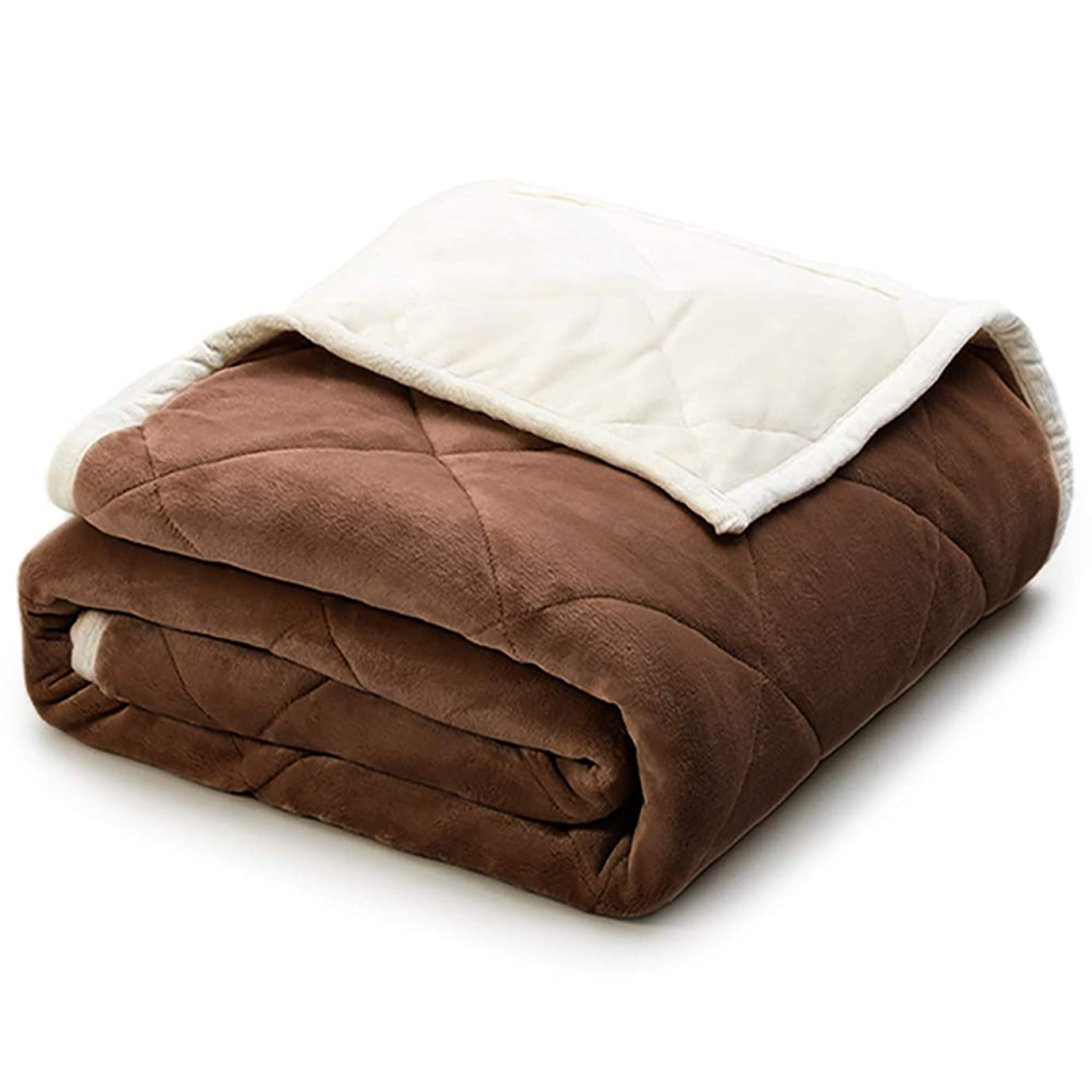 在庫暴君哺乳類二枚合わせ 毛布 あったか 厚手 フランネル 掛け毛布 毛布布団 毛布ふとん マイクロファイバー ブランケット 洗える (シングル?140X200cm, ブラウン)