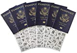 Passport |Little passports |Travelers notebook | Set with travel stickers world famous sights |Pretend play, party favors, airplane toy, journal notebooks, geography, classroom social study