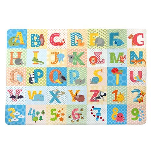 Tadpoles Super-Soft Memory Foam ABC Plush Playmat, Multicolored, Green