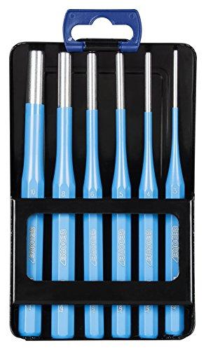 GEDORE Splinttreiber-Satz inkl. Metallklappkassette, 6-teilig, 3 - 10 mm, Stahl/Lackierung, Silber/Blau