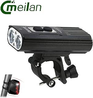 TGX Bicycle Light Headlights Led 2XM-L2 Flashlight Front Lights Cycling Lights&Meilan X6 Rear Tail Light 16 LED USB Rechargeable