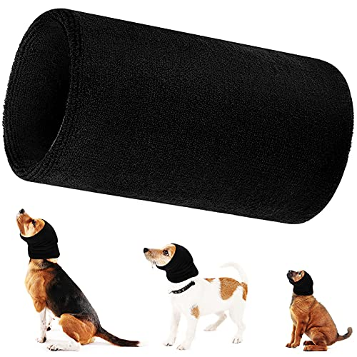 Dog Snood Dog Neck and Ears Warmer, Dog Ear Muffs Noise Protection, No Flap Ear Wraps for Dogs, Warm Winter Pet Knit Snood Headwear for Comfort, Grooming, Anti-Anxiety at Noise Place (XL)