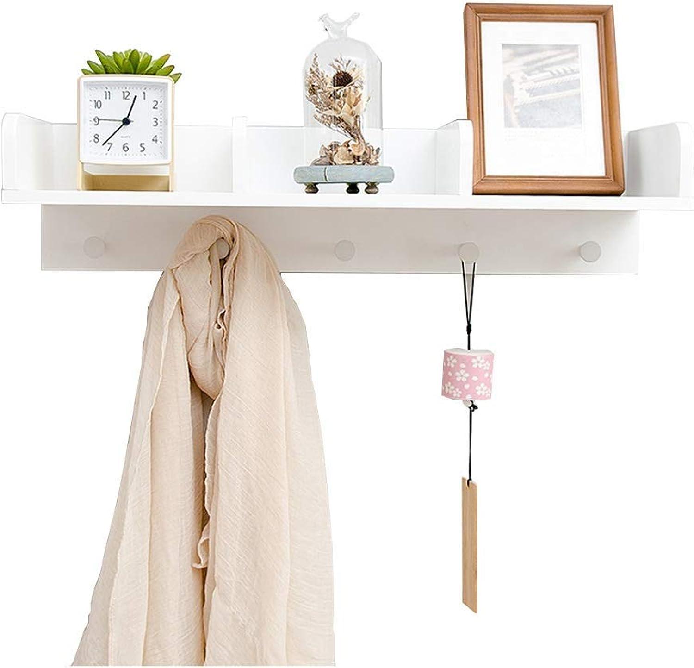 DYR Coat Rack in Bamboo, Bedroom Living Room, White, Multifunction, Wall-Mounted, Practical, Coat Rack, 63  20  15.1 cm