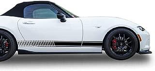 Bubbles Designs Decal Sticker Vinyl Side Sport Stripes Compatible with Mazda MX5 2015-2017 (Black)