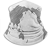 shenguang Bandana Sketchy Striped Continents Cartography Geography Countries Worldwide Art Elastic Headwear Nice for Outdoors and Dust Areas 10 x 11.6 Inch
