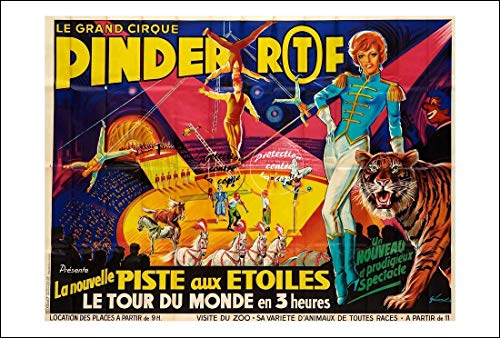 Herbé ™ Cirque PINDER Piste AUX éTOILES Rf218- Poster 50x70cm (sur Papier 60x80cm) d1 Affiche Vintage/Rétro