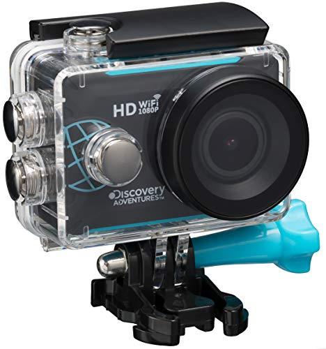 Discovery Adventures Full-HD 1080P WLAN Action Kamera Trek mit wasserdichtem Gehäuse schwarz