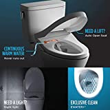 TOTO SW3056#01 S550E Electronic Bidet Toilet Seat with Cleansing Warm,...