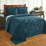 Better Trends Ashton Collection in Medallion Design 100% Cotton Tufted Chenille, King Bedspread, Teal