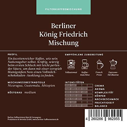 BKR | Kaffee | Berliner König Friedrich II. Mischung | Arabica | Mischung 1000g Bohne