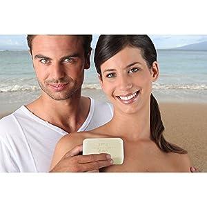 DEAD SEA Salt SOAP 3 PK - Shea Butter, Argan Oil, Magnesium, Sulfur, Minerals. All Skin Types, Problem Skin. Acne Treatment, Eczema, Psoriasis, Therapeutic, Natural, Fragrance Free, 7 oz Bars