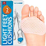 Metatarsal Pads Ball of Foot Cushions - Soft Gel Ball of Foot Pads - Mortons Neuroma Callus Metatarsal Foot Pain Relief Bunion Forefoot Cushioning Relief Women - 2 Pairs