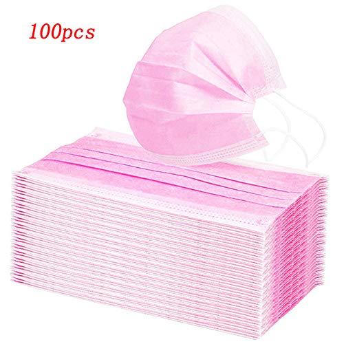 OUHENGDA 100 PCS Noir Blanc Rose Gris Violet Jaune jetable Adulte activé Charbon de Bambou