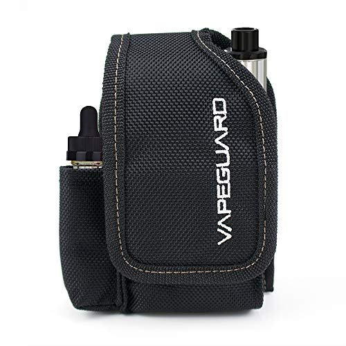 Vapeguard Vape Case Travel Holder - Vapor Carrying Bag, Vaping Organizer Pouch. Carry with Belt Clip, Carabiner or Lanyard, for Box Mods, Battery, Charger, e-Juice, Tank, Kit, Supplies, Accessories.