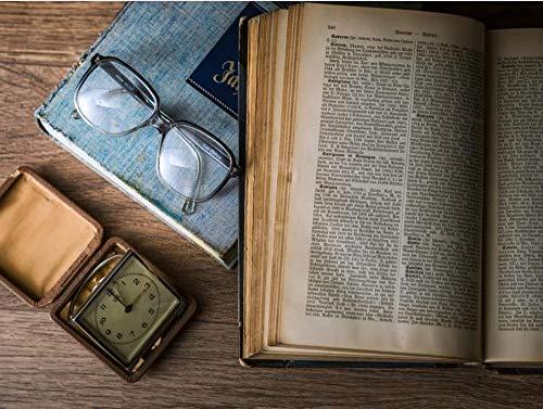 FFCLZ Wissen, Buch, Brille, Weisheit-300psc, grünes Holzpuzzle/Erwachsenenpuzzle/Schwierigkeitsrätsel