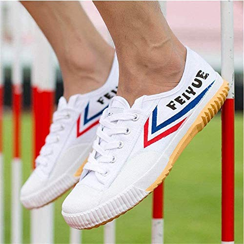 YURU Zapatos De Artes Marciales Tai-chi Zapatillas Zapatillas De Kung-fu Ligeras Zapatillas Antideslizantes para Hombres Mujeres Adultos Niños,White-33