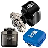 Buy a Skull Shaver Pitbull Silver PRO Along with Pitbull Travel Case and Platinum Rinse Stand