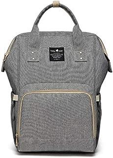 Diaper Bag,Large Capacity Diaper Bag Backpack,Multi-Function Travel Backpack Maternity Nappy Bag, Nurse bag, Mummy Bag,Waterproof for Baby Care,and Durable Grey.