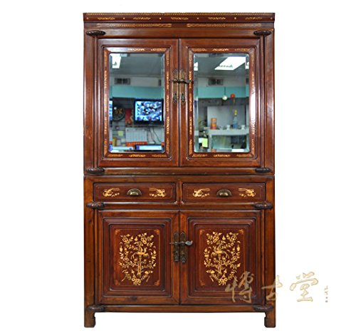 Buy Bargain Chinese Antique Carved Bone inlayed Stackable NingBo Armoire 22P89