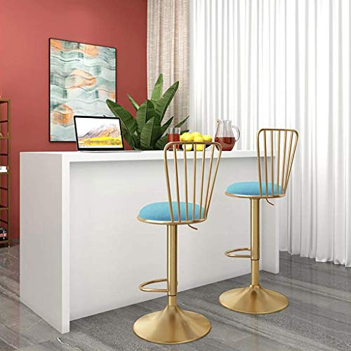 GYPPG Juego taburetes Bar giratorios 2 Barras Altura, taburetes Cocina Modernos con Respaldo, sillas para Bar, Sala Estar, Cocina, Comedor, cafetería