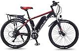 Bicicleta eléctrica de nieve, Bicicletas de montaña eléctrica for adultos, Todo Terreno conmuta el tren de rodaje deportivo de bicicletas de montaña completa 350W trasera del motor de ruedas, 26 '' Fa