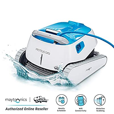 DOLPHIN Proteus DX5i Robotic Pool Cleaner - The Way of Pool Cleaning with WiFi Control, Ideal for Swimming Pools up to 50 Feet