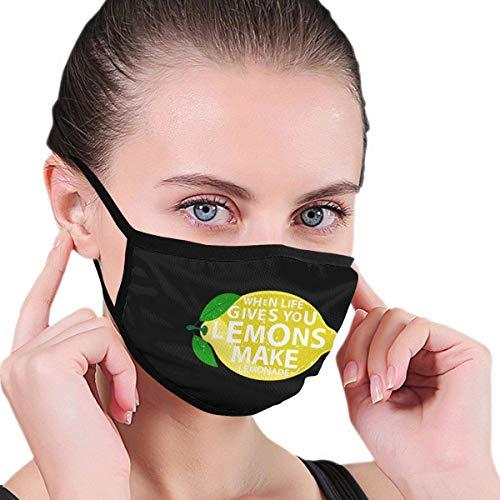 Geeft citroenen met Limonade-logo voor volwassenen, ademend, herbruikbaar, voor outdooractiviteiten en mondbescherming.