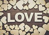 ZesNice Streudeko Hochzeit, 500 Stück Holz Herzen Scheiben Naturholzscheiben unlackiert Holzherzen für Tischdeko DIY Handwerk Verzierungen(Gemischt 4 Größen: 1cm 2cm 3cm 4cm) - 7