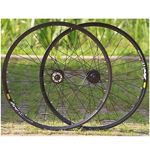 VPPV 26 Pulgadas 27.5ER Ruedas de Bicicleta de Montaña Llanta MTB Pared Doble Aleación Aluminio Rodamientos Sellados Centro Ciclismo para 10 Speed (Size : 26 Inch)