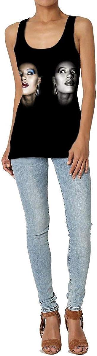 Grace Jones Ladies Fashion Trend Music Tank Vest, Casual Sports Sleeveless Vest