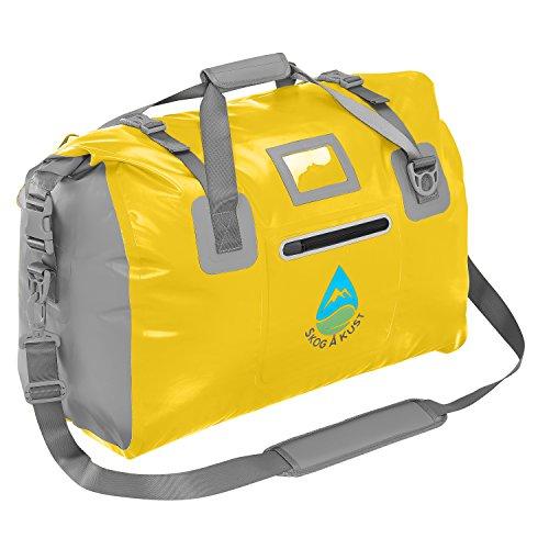 Skog Å Kust DuffelSak Waterproof Duffel Bag   40L Yellow