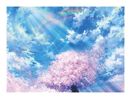 Pintura al óleo de la Serie Rompecabezas -Cherry árbol bajo el arco iris - 1000 piezas Puzzles 30x20 pulgadas / 70x50cm Única decoración de juguete regalo de la pintura JISHIYU