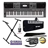 Yamaha Keyboard PSR-I500, 61-Keys Digital Portable Touch Sensitive Keyboard With Gig Bag; Stand;...