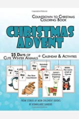 Christmas Advent Coloring Book: 25 Days of Cute Winter Animals Paperback