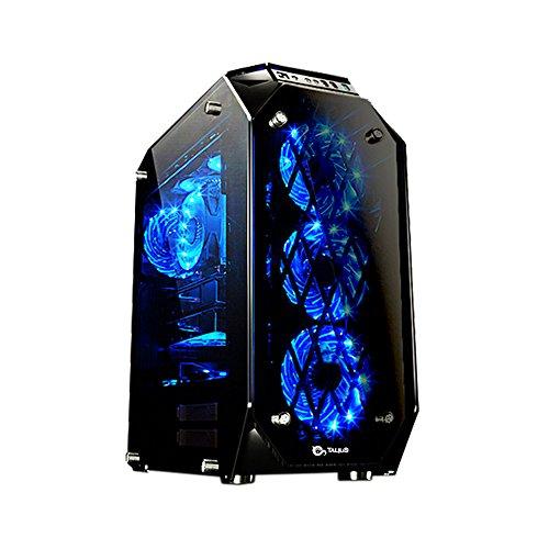 Talius Caja ATX Gaming Kraken Tornado 4 Paneles de Cristal Templado - USB 3.0-2X USB 2.0 - Sin Fuente - Negra