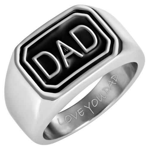 Willis judd–Pulsera magnética de acero inoxidable para hombre Dad Anillo Grabado LOVE YOU Dad