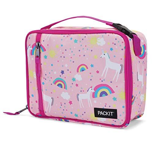 PackIt Freezable Classic Lunch Box, Unicorn Sky Pink