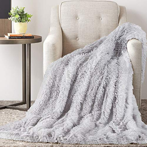 TAOCOCO Sherpa Throws blanket fleece blanket for sofa snuggle blankets for adults, Reversible Cozy Throw Blanket (Grey, 160 * 200)