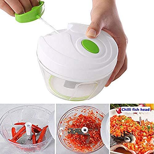Nahrungsmittelzerhacker Nahrungsmittelzerhacker und Dicers 330 ml manueller Gemüsezerhacker Gemüsenahrungsmittelzerhacker Vegetarischer Fleischwolf schnelle Hacho-Hand