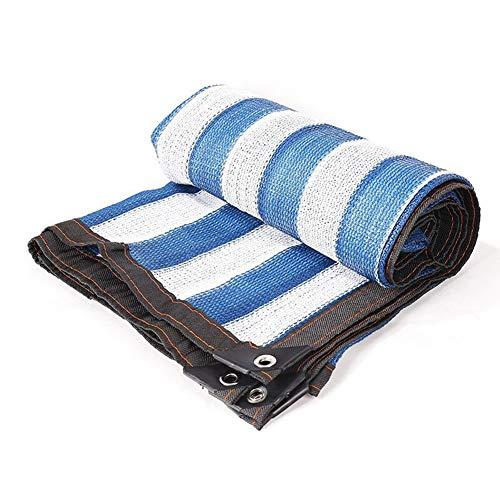 AYUSHOP Toldos Azul,Lona De Sombra Reforzar Espesar Anti-Envejecimiento Protección UV,Sombra Toldo para Sombra Pública, Patio, Flores, Suculentas,2x4m