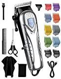 RELEMON Mens Hair Clippers, Professional Electric Hair Clippers for Men Women Kids, Master-level Hair Clippers Cordless with 10 Color Coded Guards, Barber Scissors Cape, Grooming Barber Trimmer