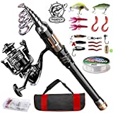 ShinePick Fishing Rod Kit, Telescopic...
