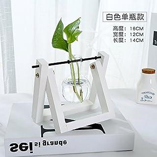 SQBJ Jarrón de cristal transparente jarrón decoración floral salón mesa recipiente hidropónico jarrón pequeños ornamentos fresca