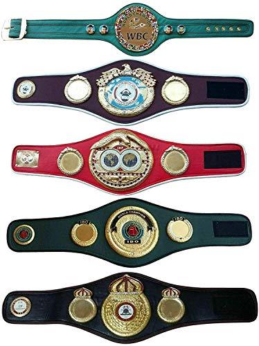 MAXAN IBO IBF WBA WBC WBO Adult Boxing Champion Title Belts Set of 5 Adult Belts