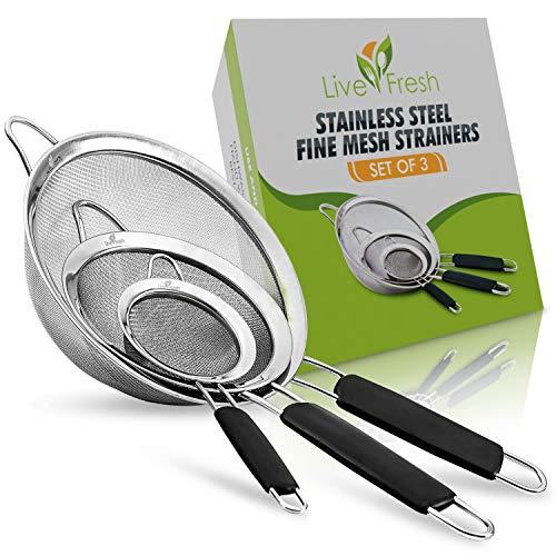 LiveFresh Food Strainer Set - Set of 3
