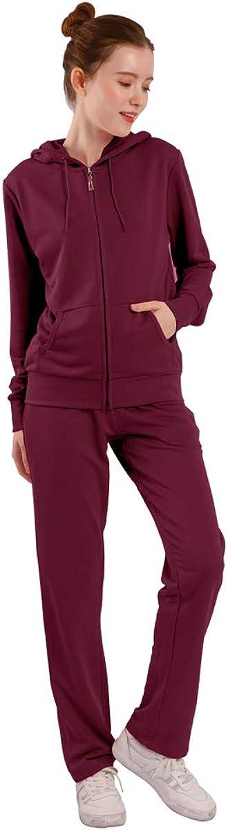 LeeHanTon Womens 当店一番人気 Sweatsuits Sets Warm ファクトリーアウトレット Up Sports Outfit 2 Zipper